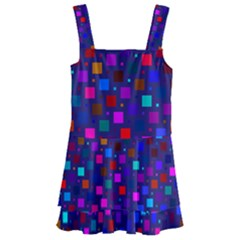 Squares Square Background Abstract Kids  Layered Skirt Swimsuit