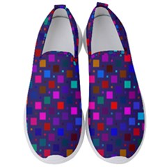 Squares Square Background Abstract Men s Slip On Sneakers