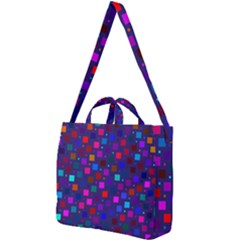 Squares Square Background Abstract Square Shoulder Tote Bag