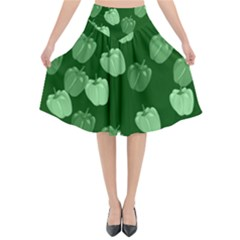 Seamless Paprica Flared Midi Skirt