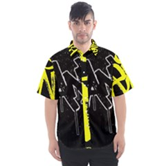 Anti Anxiety Black And White  Men s Short Sleeve Shirt
