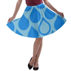 Droplet A Line Skater Skirt by WensdaiAddamns