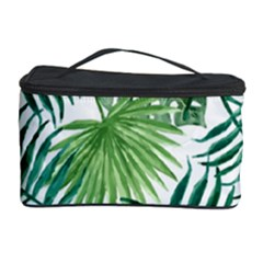Green Tropical Leaves Cosmetic Storage by goljakoff