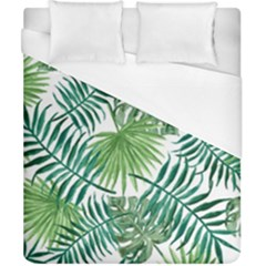 Green Tropical Leaves Duvet Cover (california King Size) by goljakoff