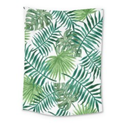 Green Tropical Leaves Medium Tapestry by goljakoff