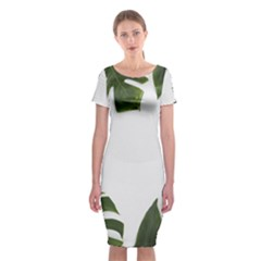 Green Leaves Classic Short Sleeve Midi Dress by goljakoff