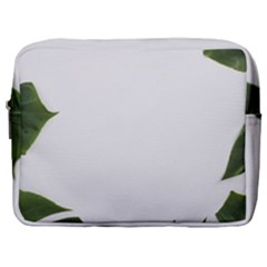 Green Leaves Make Up Pouch (large) by goljakoff
