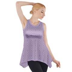 Simple Squares  Side Drop Tank Tunic by TimelessFashion
