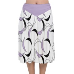 Simply Retro In Crocus Petal  Velvet Flared Midi Skirt by TimelessFashion