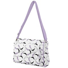 Simply Retro In Crocus Petal  Front Pocket Crossbody Bag by TimelessFashion