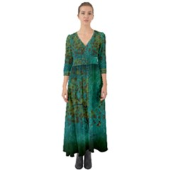 Tree In The Wind Button Up Boho Maxi Dress by WensdaiAmbrose
