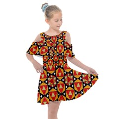 Grammer 4 Ml 8 1 Kids  Shoulder Cutout Chiffon Dress