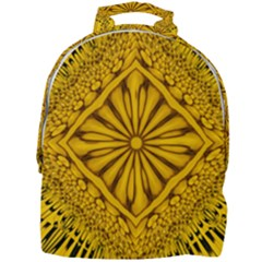 Pattern Petals Pipes Plants Gold Mini Full Print Backpack