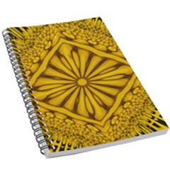 Pattern Petals Pipes Plants Gold 5 5  X 8 5  Notebook by Jojostore