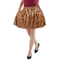 Rust Rusty Metal Iron Old Rusted A Line Pocket Skirt