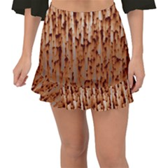 Rust Rusty Metal Iron Old Rusted Fishtail Mini Chiffon Skirt