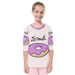 Donuts Sweet Food Kids  Quarter Sleeve Raglan Tee