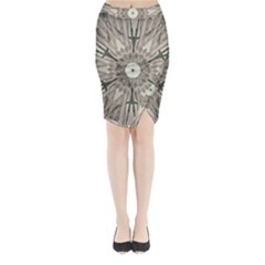 Digital Art Space Midi Wrap Pencil Skirt by Mariart