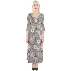Digital Art Space Quarter Sleeve Wrap Maxi Dress by Mariart