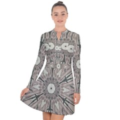 Digital Art Space Long Sleeve Panel Dress by Mariart