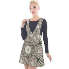 Digital Art Space Plunge Pinafore Velour Dress by Mariart