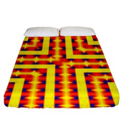 Digital Artwork Abstract Fitted Sheet (king Size) by Mariart