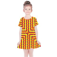 Digital Artwork Abstract Kids  Simple Cotton Dress