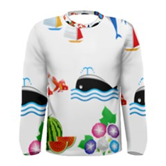 Summer Dolphin Whale Men s Long Sleeve Tee