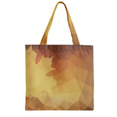 Autumn Leaf Maple Polygonal Zipper Grocery Tote Bag