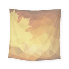 Autumn Leaf Maple Polygonal Square Tapestry (small) by Alisyart