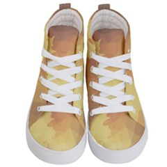 Autumn Leaf Maple Polygonal Kids  Hi Top Skate Sneakers