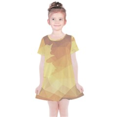 Autumn Leaf Maple Polygonal Kids  Simple Cotton Dress