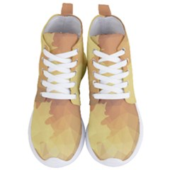 Autumn Leaf Maple Polygonal Women s Lightweight High Top Sneakers