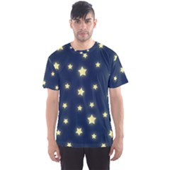 Stars Night Sky Background Men s Sports Mesh Tee by Alisyart