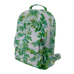 Leaves Green Pattern Nature Plant Flap Pocket Backpack (large) by AnjaniArt