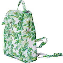 Leaves Green Pattern Nature Plant Buckle Everyday Backpack by AnjaniArt