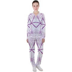 Spirograph Circle Geometric Casual Jacket And Pants Set