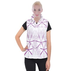 Spirograph Circle Geometric Women s Button Up Vest by AnjaniArt