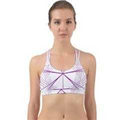 Spirograph Circle Geometric Back Web Sports Bra by AnjaniArt