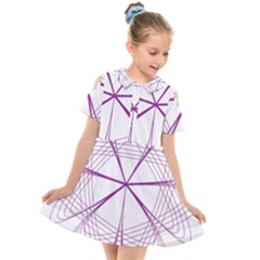Spirograph Circle Geometric Kids  Short Sleeve Shirt Dress