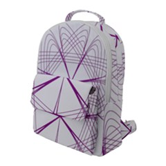 Spirograph Circle Geometric Flap Pocket Backpack (large) by AnjaniArt