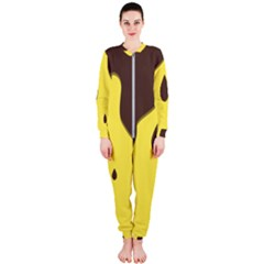 Chocolate Yellow Cake Banana Onepiece Jumpsuit (ladies)