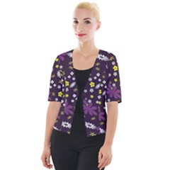 Buttercups & Violets Cropped Button Cardigan