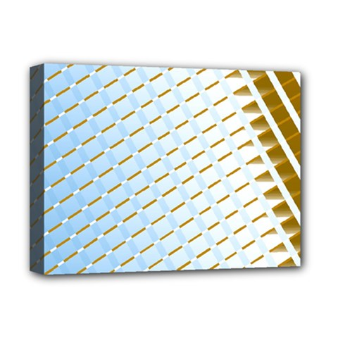 Diagonal Seamless Line Design Deluxe Canvas 16  X 12  (stretched)  by LoolyElzayat