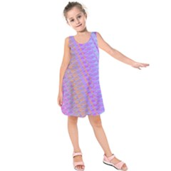 Diagonal Line Design Art Kids  Sleeveless Dress