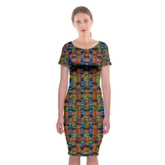 For The Love Of Soul And Mind In A Happy Mood Classic Short Sleeve Midi Dress by pepitasart