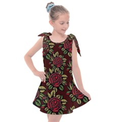 Roses Red Kids  Tie Up Tunic Dress