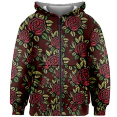 Roses Red Kids  Zipper Hoodie Without Drawstring