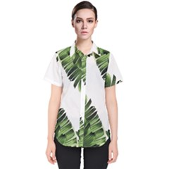 Banana Leaves Women s Short Sleeve Shirt by goljakoff