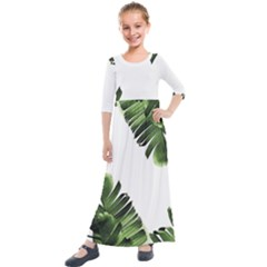 Banana Leaves Kids  Quarter Sleeve Maxi Dress